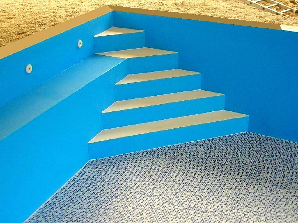 pool treppe selber bauen interesting lieferung der fr das. Black Bedroom Furniture Sets. Home Design Ideas